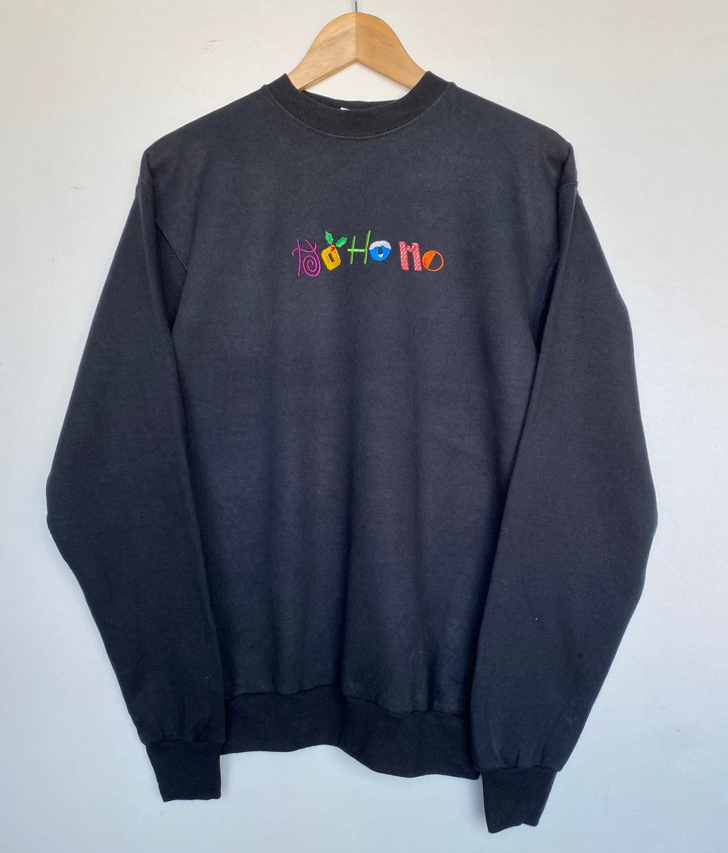 Embroidered 'Ho Ho Ho' sweatshirt (S)