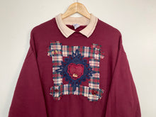Load image into Gallery viewer, Embroidered 'Heart' sweatshirt (L)