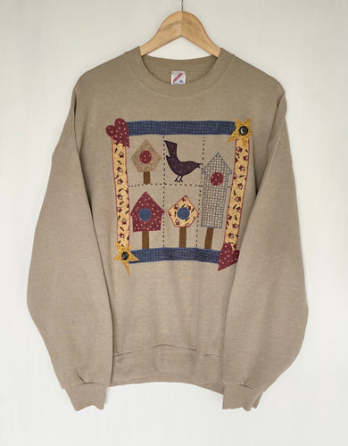 Embroidered 'Bird' sweatshirt (XL)