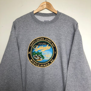 Printed 'Beach' sweatshirt (L)
