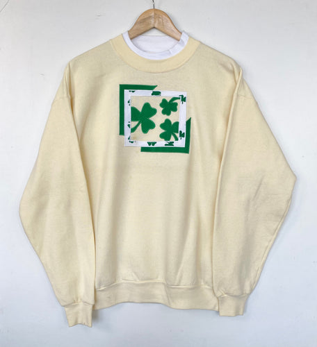 Embroidered 'Shamrock' sweatshirt (L)