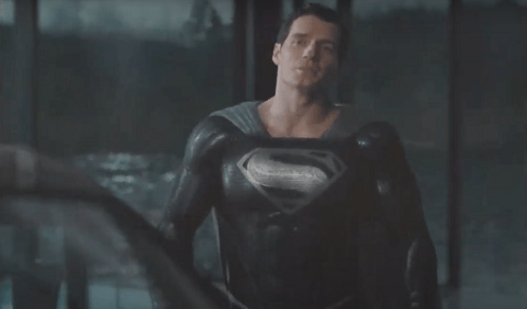 First Look at Henry Cavill in Superman's Black Suit