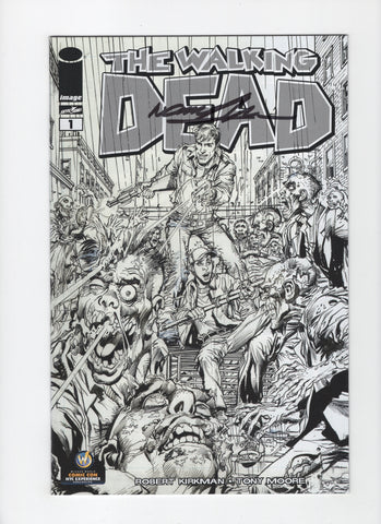 Walking Dead #1 Wizard World NYC B/W Variant - Signed Neal Adams - NM-