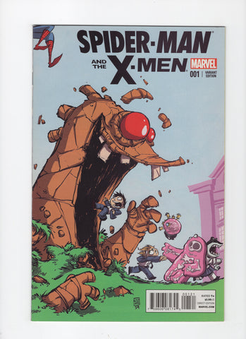 Spider-Man and the X-Men #1 - Skottie Young Variant - VF