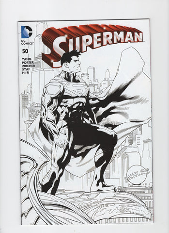 Superman #50 (3rd Series, 2011) Comic Con Box B/W Variant - NM-