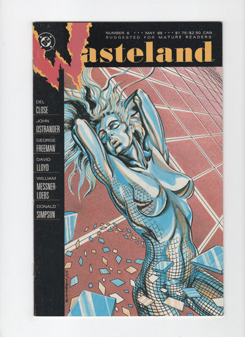 Wasteland #5 (DC, 1988) Cover Error - FN