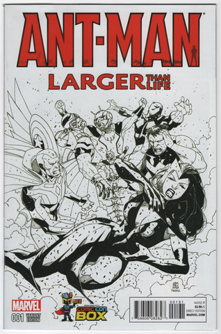 Ant-Man Larger Than Life #1 B&W Comic Con Box Exclusive Variant Cover NM