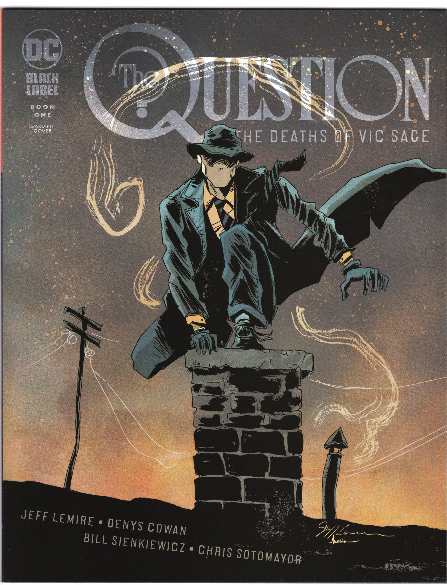 The Questions: The Death of Vic Sage #1 - Jeff Lemire Variant - NM - Rediscover Geek