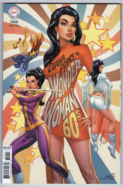 Wonder Woman #750 (5th Series, 2016) J. Scott Campbell 1960's Variant - NM- - Rediscover Geek