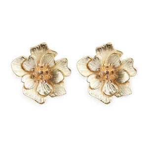 Annie Statement Flower Earrings - Yesines.com