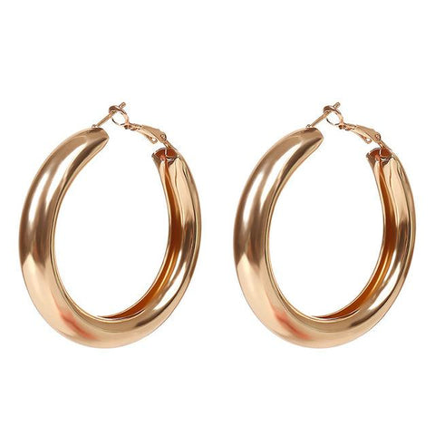 Camille Chunky Hoop Earrings - Yesines.com