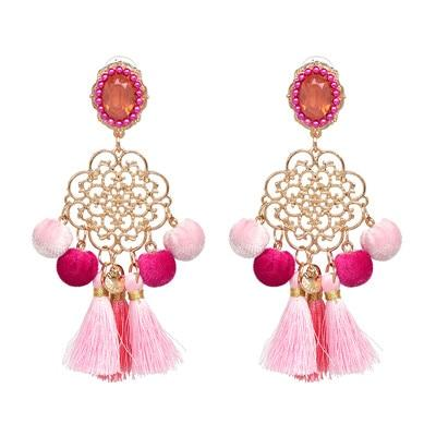 Cindy Statement Tassel Earrings - Yesines.com