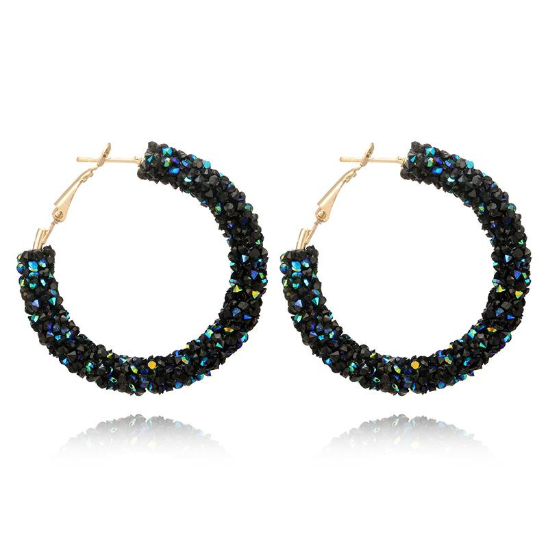 Cinthya Crystal Hoop Earrings - Yesines.com