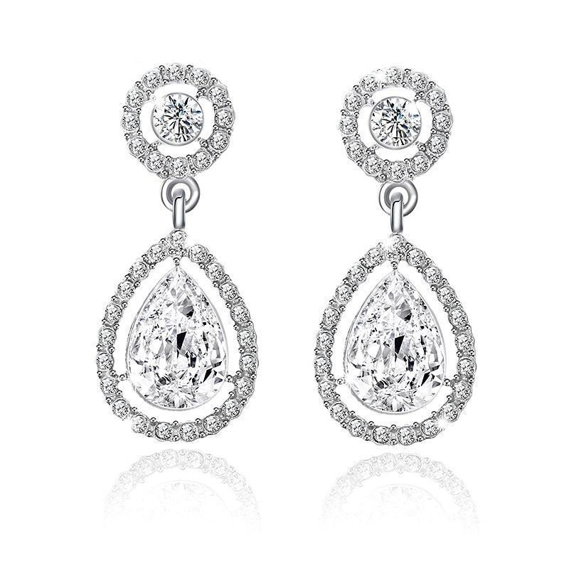 Crystal Teardrop Earrings - Yesines.com