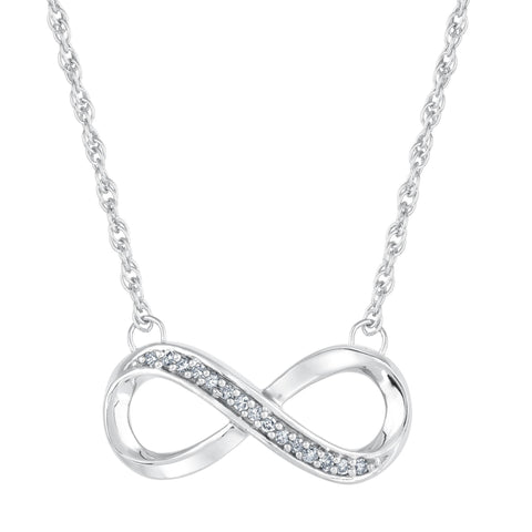 Dainty Infinity Crystal Necklace - Yesines.com