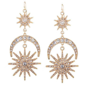 Emma Moon & Stars Drop Earrings - Yesines.com