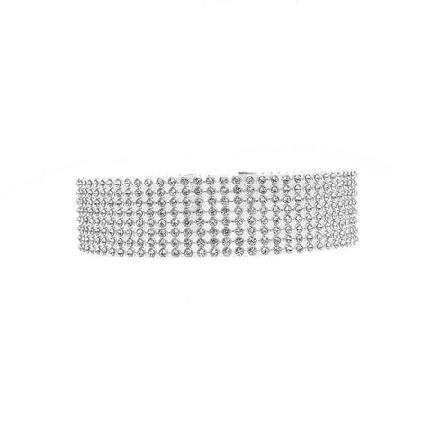 Gigi Rhinestone Choker Necklace - Yesines.com
