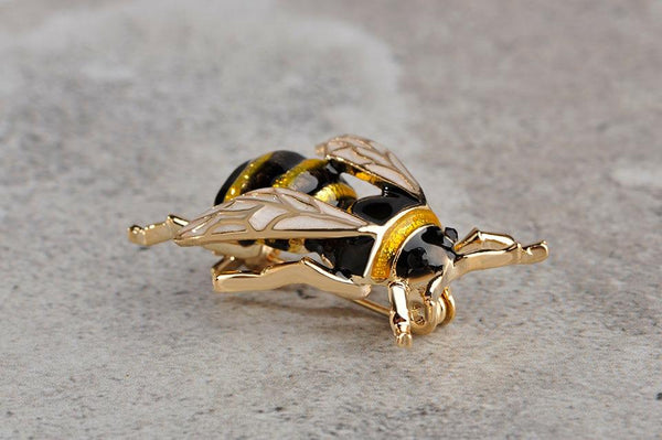 Gold Bee Brooch - Yesines.com