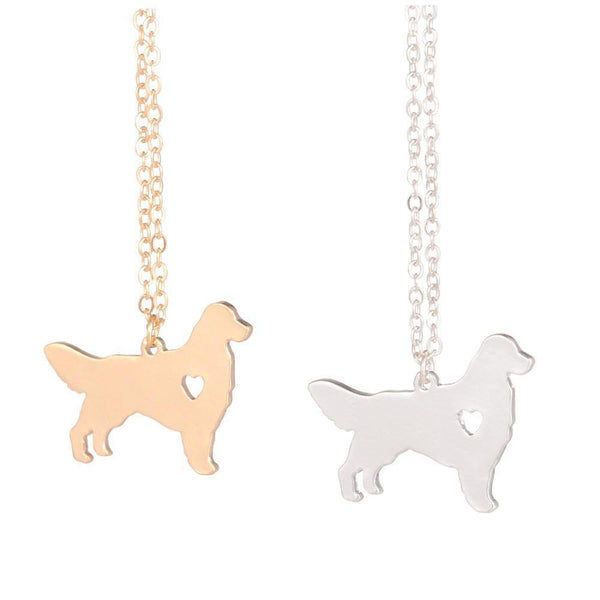 Golden Retriever Love Pendant Necklace - Yesines.com