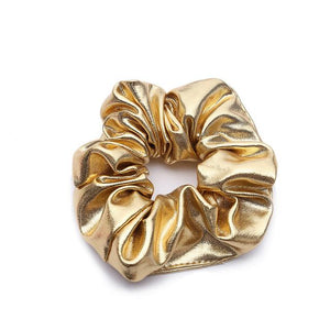 Jane Faux Leather Scrunchie - Yesines.com
