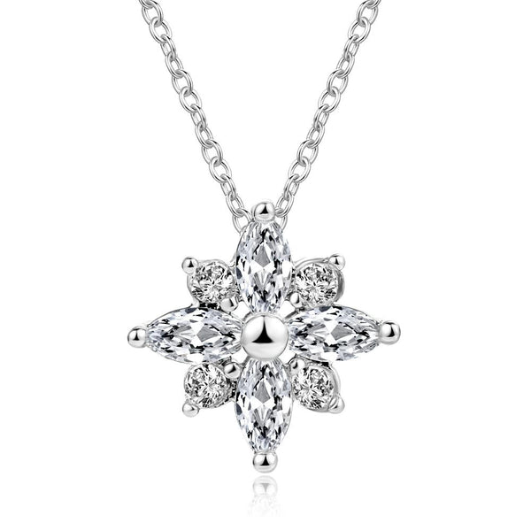 Joy Crystal Snowflake Necklace - Yesines.com