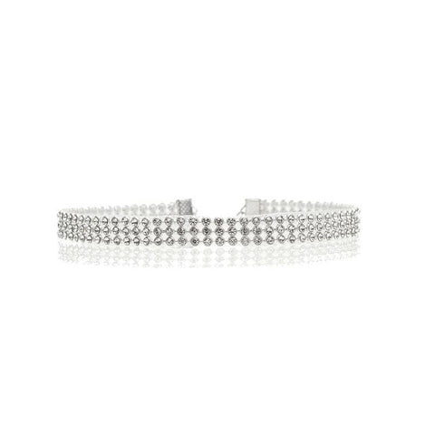 Kendall Rhinestone Choker Necklace - Yesines.com