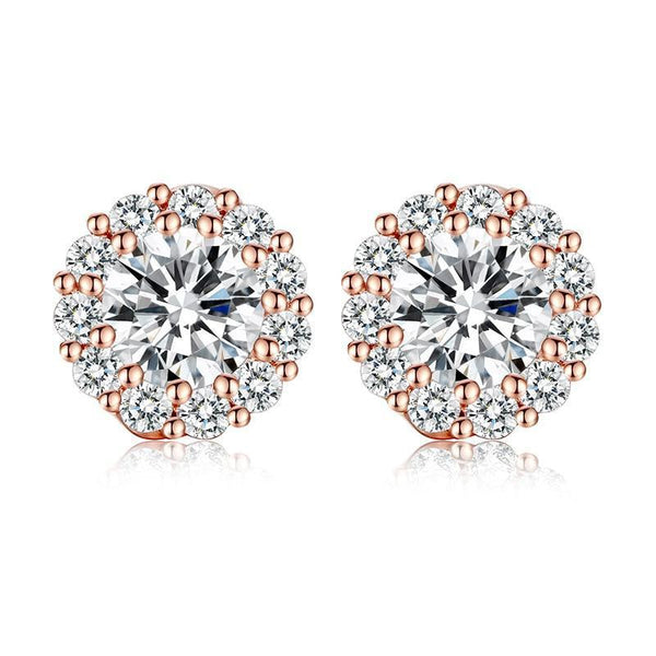 Marie Crystal Stud Earrings - Yesines.com