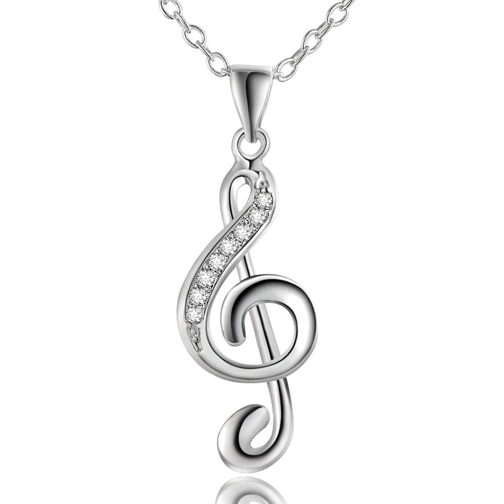 Music Notation Pendant Necklace - Yesines.com