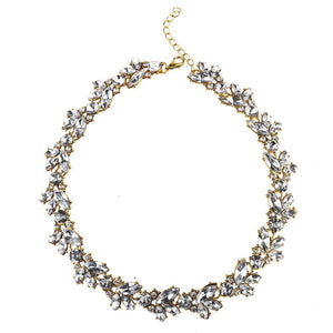 Old Hollywood Crystal Choker Necklace - Yesines.com