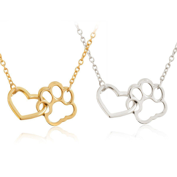 Pet Lover Footprint Necklace - Yesines.com