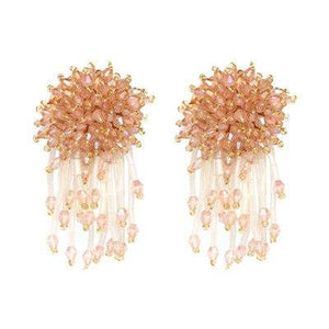 Poppy Crystal Beads Earrings - Yesines.com