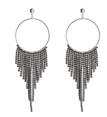 Leto Rhinestone Hoop Earrings