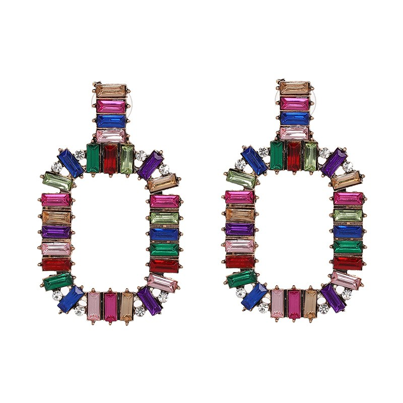 Selene Colorful Crystal Earrings