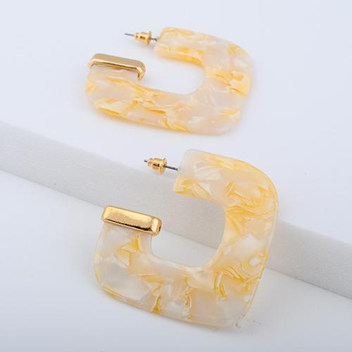 Retro Barbie Rectangular Hoop Earrings - Yesines.com