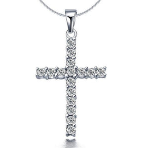 Silver Plated Cross Pendant Necklaces - Yesines.com