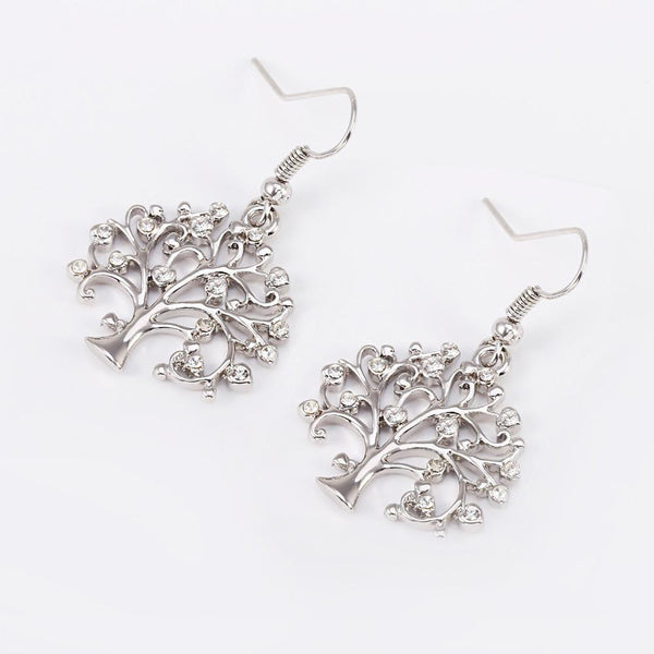 Tree Of Life Piercing Earring With AAA Cubic Stones - Yesines.com