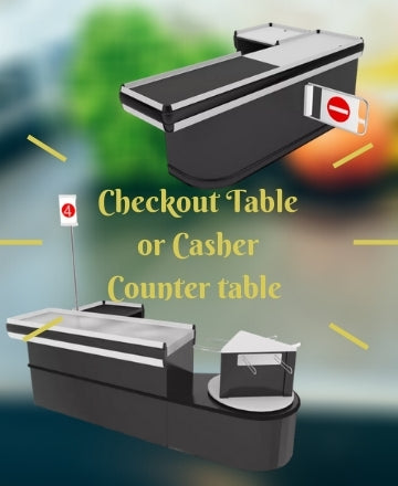Checkout Or Casher Counter Table