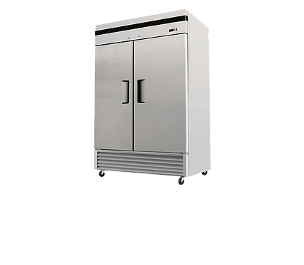 Double Solid Door Stainless Steel Freezer