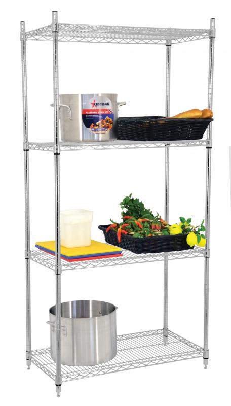 24″ X 36″ X 72″ Chrome Shelving Kit
