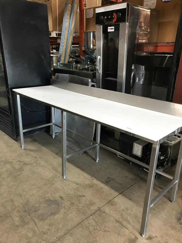 7 FT Butcher table-USED-SKU:FOR01250