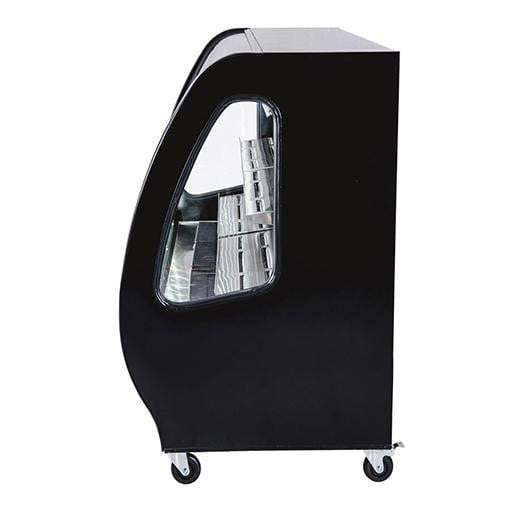 Tor Rey 40in Black Curved Glass Refrigerated Case with Casters