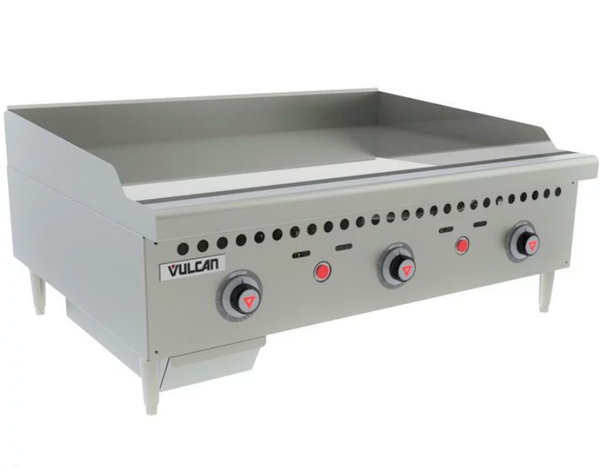 "Vulcan VCRG36-T 36"" Countertop Thermostatic Gas Griddle - 75,000 BTU/hr"