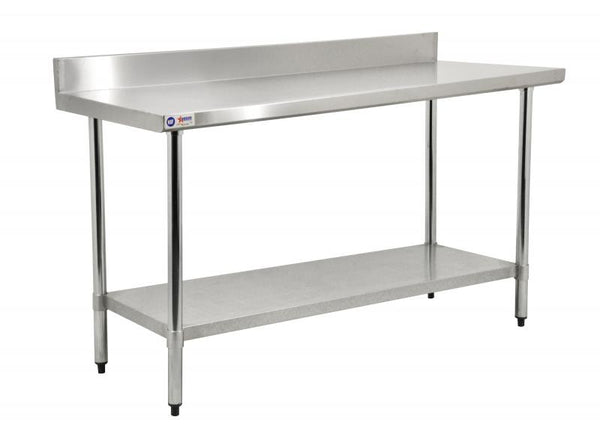 "24""X30"" Stainless Steel Worktable With 4"" Backsplash 22079"