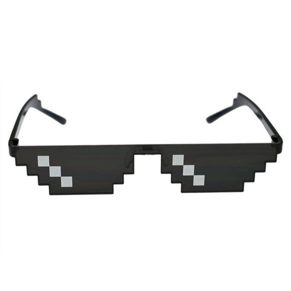 8 Bit Pixelated Thug Life Sunglasses