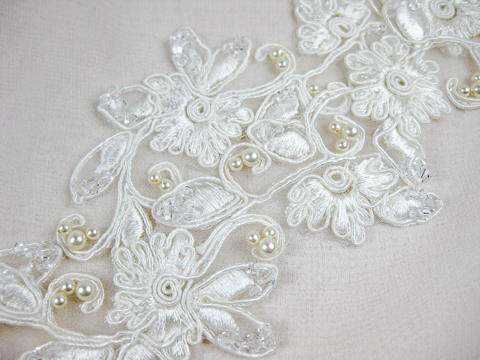 Applique Ivory Hand Beaded