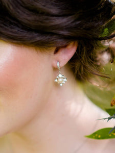 Claire II Earrings in Opal - e359