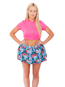 Non-Sinkable Floral Pattern Swim Shorts
