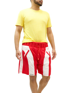 Non-Sinkable Red & White Swim Shorts