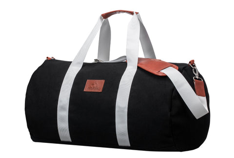 Black Canvas Weekender Bag