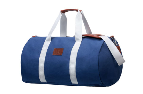 Blue Canvas Weekender Bag